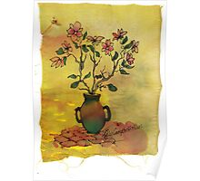 flowers in a pot Poster