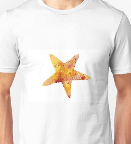 Colorful starfish watercolor painting Unisex T-Shirt