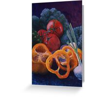 Veggie Still Life Greeting Card
