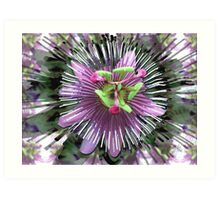 "Abstract - ""Guess the flower"" Art Print"