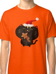 Christmas Black Cute Cat Classic T-Shirt
