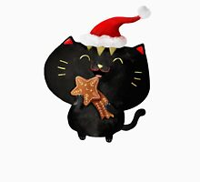 Christmas Black Cute Cat Unisex T-Shirt
