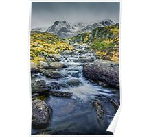 Snowdonia Mountains Poster