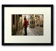 Boy in Bairro Alto, Lisbon Framed Print