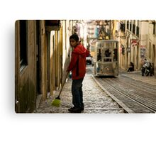 Boy in Bairro Alto, Lisbon Canvas Print