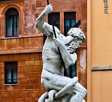 Statue in Rome by Susan V. Attard