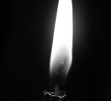 Black and White Flame by JaneIzzyPhoto