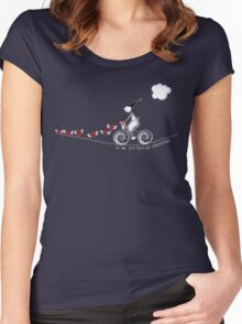 In the pursuit of happiness Women's Fitted Scoop T-Shirt
