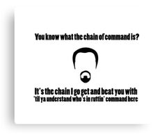 The Chain of Command Canvas Print