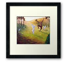 Kaldi and his Dancing Goats....... Framed Print