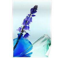 Bluebell Abstract Poster