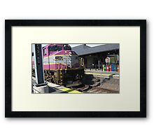 1120 MBTA Commuter Rail Framed Print
