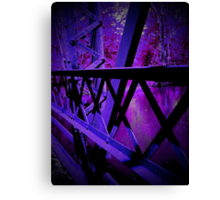 Purple, dark, and creepy.. Canvas Print