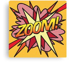 Comic Book ZOOM! Canvas Print