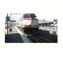 1062 MBTA Commuter Rail Art Print