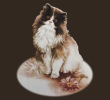 """Cat with Flower"" by Sara Moon by Sara Moon"