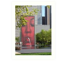 The Crown Fountain Art Print