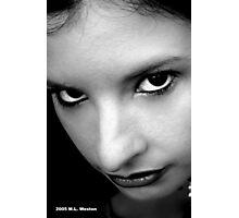 Black and White Portrait Photographic Print