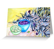 Still Life with Olives Greeting Card