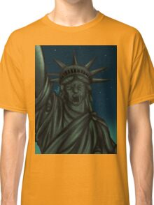 Statue of Liberty-Weeping Angel   Classic T-Shirt