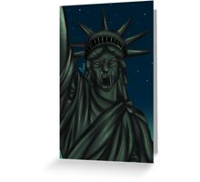 Statue of Liberty-Weeping Angel   Greeting Card