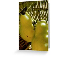 pears & basket Greeting Card