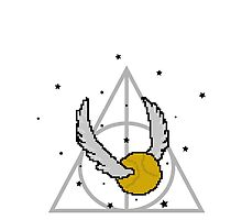 8bit Snitch and Deathly Hallows by steffirae