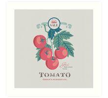Veg Love Collection No.5 Tomato Art Print