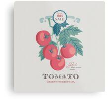 Veg Love Collection No.5 Tomato Metal Print