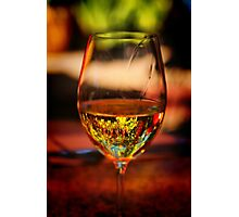 Wine in the Garden Photographic Print