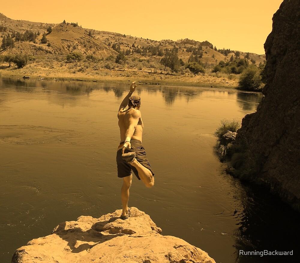 Yoga on the edge by Amanda Huggins