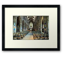 Lichfield Cathedral, The Nave Framed Print