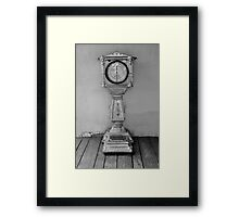 Your weight for a quarter Framed Print