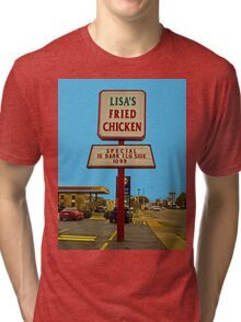 Lisa's Fried Chicken T-Shirt Tri-blend T-Shirt