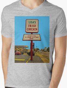 Lisa's Fried Chicken T-Shirt Mens V-Neck T-Shirt