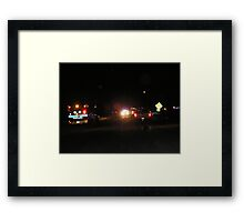 Fire Department on the job Framed Print