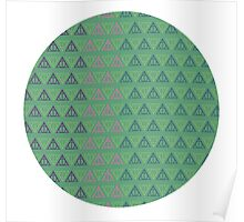 Deathly Hallows Pattern Poster