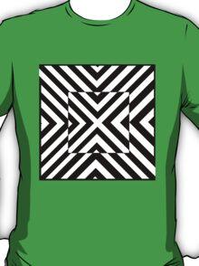 Black and White Optical Illusion T-Shirt