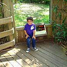 Grandson At The Zoo by Wanda Raines