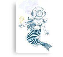 Little mermaid.. Canvas Print