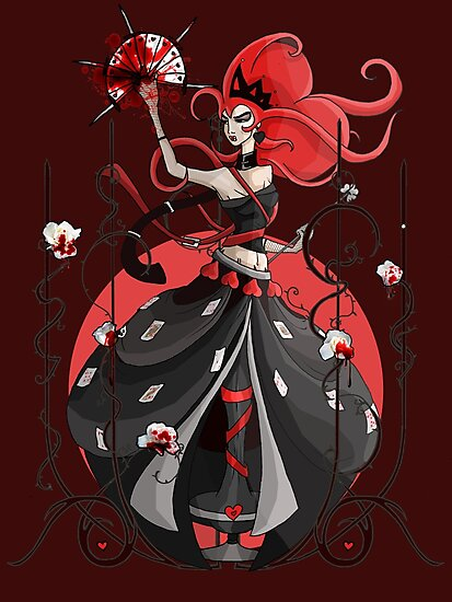 Queen of Hearts: Painting the Roses Red by Barbora  Urbankova