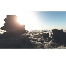 Above the clouds, daytime Photographic Print