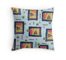 Chique Geometry in Blue Throw Pillow