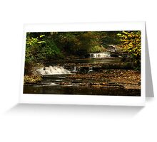 West Burton Falls, Bishopdale, Yorkshire Dales. Greeting Card