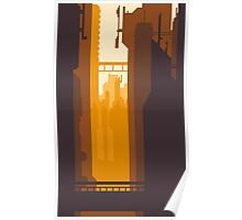 8bit Sunset Poster