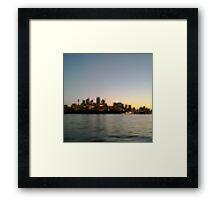 Sydney City Pixels Framed Print