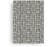 Painted Grid Print | White Canvas Print