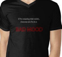 Bad Mood Mens V-Neck T-Shirt