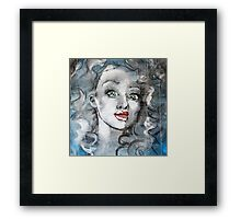 Raw Looks Abstract Woman's Face Framed Print