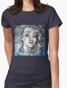 Raw Looks Abstract Woman's Face Womens Fitted T-Shirt